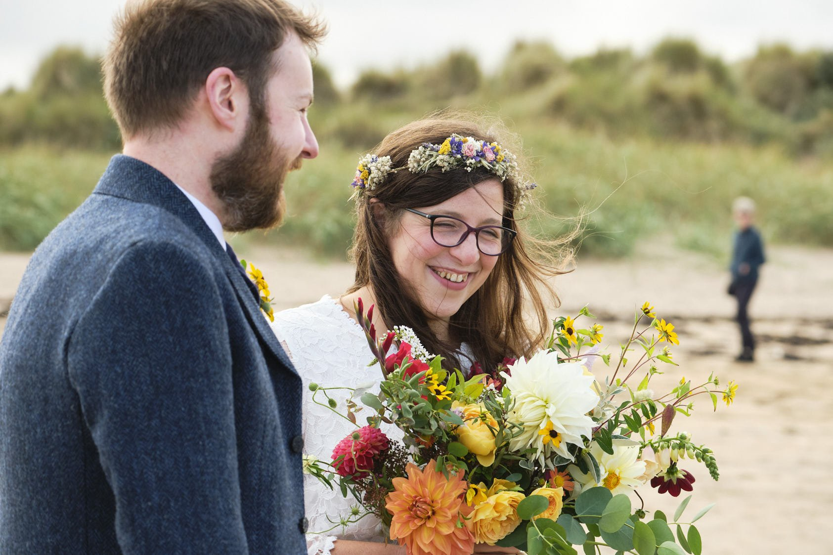 Image showing Sottish beach wedding