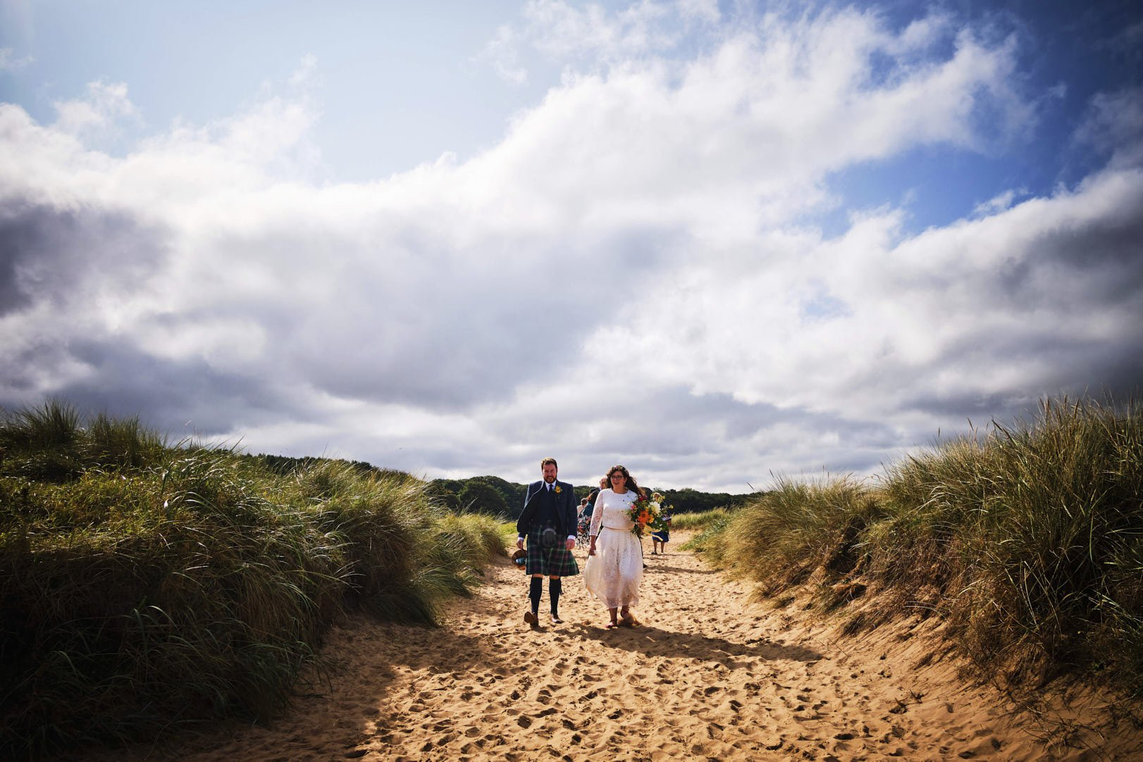 Image showing micro-wedding taking place at Yellowcraig Beach